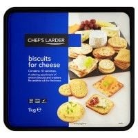 Catering Size Chefs Larder Biscuits for Cheese 1kg