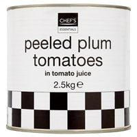 Catering Size Chef's Essentials Peeled Plum Tomatoes in Tomato Juice 2.5kg