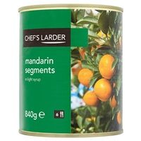 Catering Size Chefs Larder Mandarin Segments in Light Syrup 840g