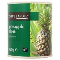 Catering Size Chef's Larder Pineapple Slices in Light Syrup 3kg