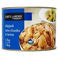 Catering Size Chef's Larder Tuna Chunks in Brine 1.7kg