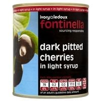 Catering Size Fontinella Dark Pitted Cherries in Light Syrup 810g