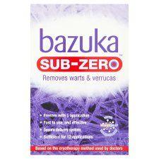 Bazuka Sub Zero Warts and Verucca 50ml