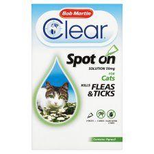 Bob Martin Fleaclear Cat Flea Treatment 1 Tube