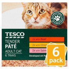 Tesco Classic Selection Cat Food Pate 6 X100g