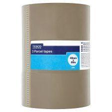 Tesco Parcel Tape 48Mmx66m 3 Pack