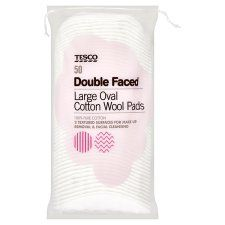 Tesco Large Oval Cotton Wool Pads Double Faced 50