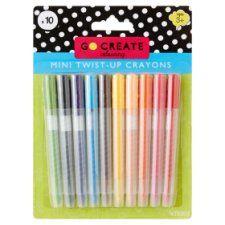 Tesco Go Create Mini Twist-Up Crayons 10 Pack