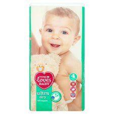 Tesco Loves Baby Ultra Dry Size 4 Economy Pack 48