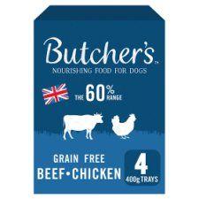 Butchers Grain Free Multipack 4 X 400g Tray