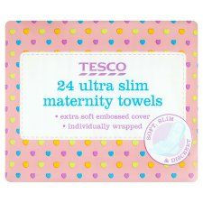 Tesco Ultra Maternity Towels X24