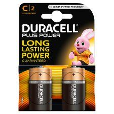 Duracell Plus C 2 Pack