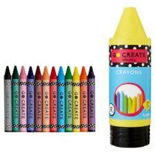 Tesco Go Create 12 Crayons In Giant Crayon
