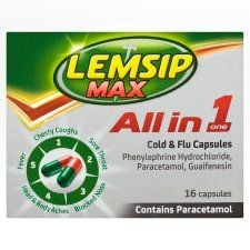Lemsip Max Cold and Flu All In One Capsules X 16