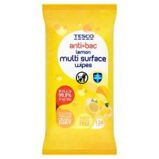 Tesco Citrus Antibacterial Wipes 120'S