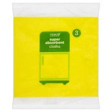 Tesco Super Absorbent Cloths 3 Pack