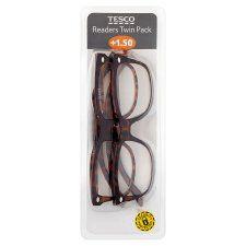 Tesco Reading Glasses Twin Pack 1.5