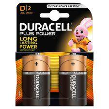 Duracell Plus D 2 Pack