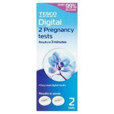 Tesco Digital Pregnancy Testing Kit 2S