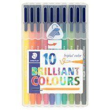 Staedtler Triplus Colour Fibre Tips 10Pck