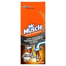 Mr Muscle Kitchen Drain Granules 250g
