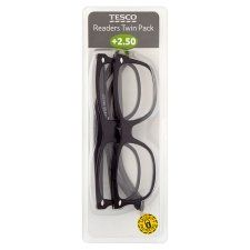Tesco Reading Glasses Twin Pack 2.5