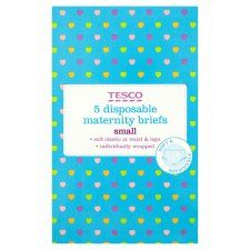 Tesco Disposable Maternity Briefs Size 10/12 X5