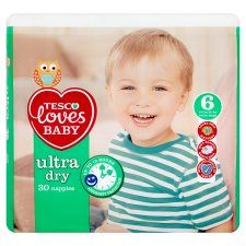 Tesco Loves Baby Ultra Dry Size 6 Economy Pack 30