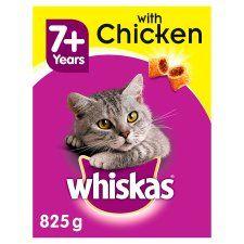 Whiskas 7+ Chicken Dry Senior Cat Food 825g