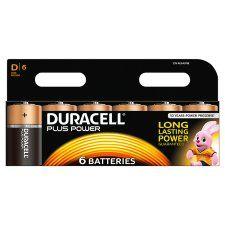Duracell Plus D 6 Pack