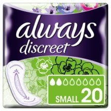 Always Discreet Small Incontinence Pads 20 Pack