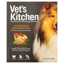 Vets Kitchen Dog Chicken and Rice 395g Wet Tray