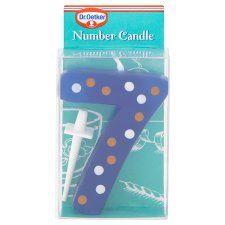 Dr Oetker Spotty Candle Number 7