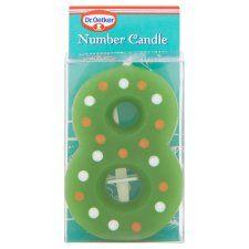 Dr Oetker Spotty Candle Number 8