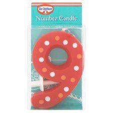 Dr Oetker Spotty Candle Number 9