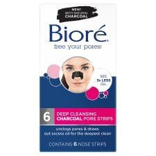 Biore Charcoal Pore Strips 6 Xnose Strips