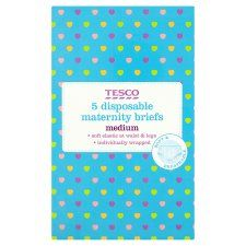 Tesco Disposable Maternity Briefs Size 14/16 X5