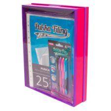 Pukka Filing Storage Box Pink