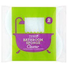 Tesco Sponge Bathroom Cleaner 2 Pack
