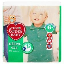 Tesco Loves Baby Ultra Dry Size 6+ Economy Pack 26