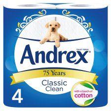 Andrex Toilet Tissue 4 Roll White