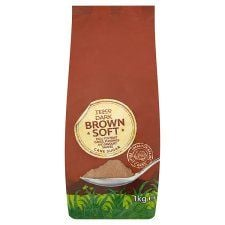 Tesco Dark Brown Soft Sugar 1kg Bag