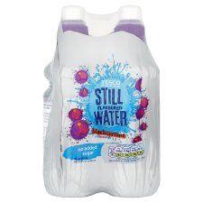 Tesco Still Water Blackcurrant 4X300ml