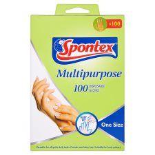 Spontex Multi Purpose Disposable Gloves 100 Pack