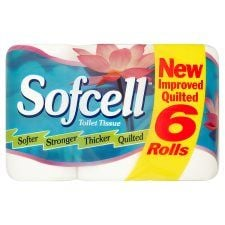Sofcell Toilet Tissue 6 Roll