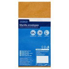 Tesco Manilla Envelopes Dl 50 Pack