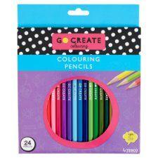 Tesco Go Create Colouring Pencils 24 Pack