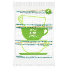 Tesco Dish Cloth 4 Pack
