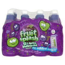 Tesco Apple/Blackcurrant Juice (No Added Sugar) 12X250ml