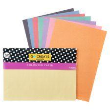 Tesco Go Create Coloured Paper